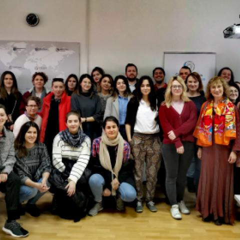 "Course of lectures of prof. Anna Krasteva ""Theories and politics of ethnicity, bordering, intersectionality"" at ERMA (European Regional master in Democracy and Human Rights), member of the Global campus for human rights, Sarajevo, 17-18.02.20."